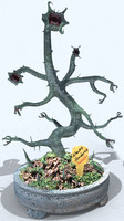 3d alien bonsai