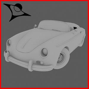 3d porsche 365 model