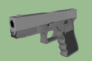 free glock 17 gun 3d model
