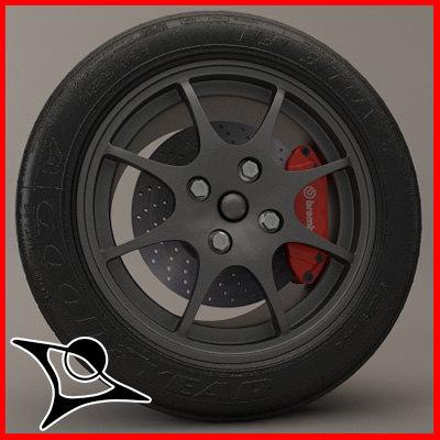 wheel caterham 3d model