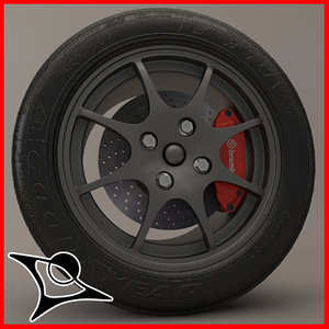 wheel caterham 3d model