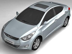 2011 hyundai avante 3d model
