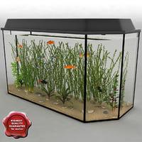aquarium v6 3d model