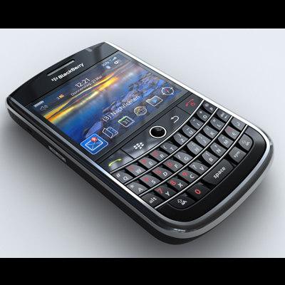 blackberry tour 9630 mobile phone 3d max