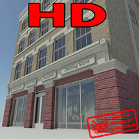 Building 1 New - HD Downtown Building - 3ds max 2010 Mental Ray
