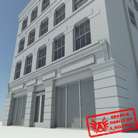 Building 1 NoMat - HD Downtown Building - 3ds max 2010 - No Materials