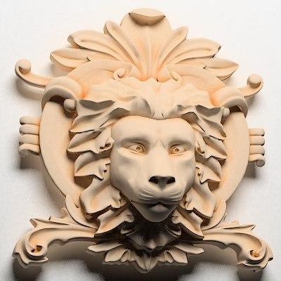 maya lion head centre interior wall