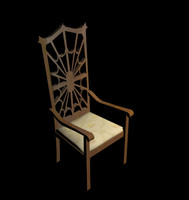 3dsmax queen dining chair