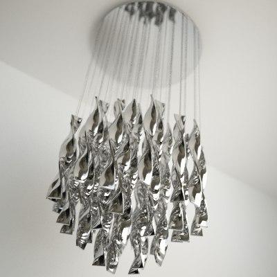 contemporary chandelier obj