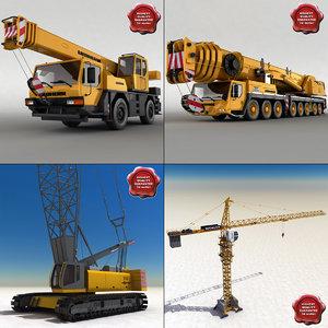 3d cranes crawler sennebogen model