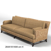 3d donghia victorie sofa model