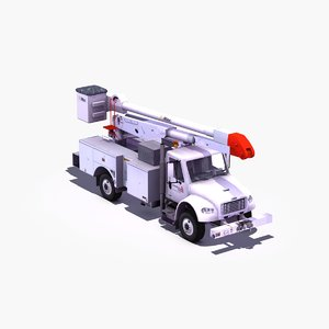 3d fl-m2 bucket truck