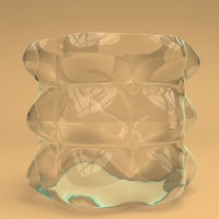 3d model of glass bubble vase