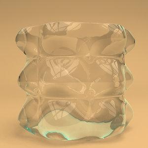 3d model of glass bubble vase