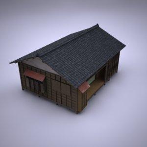 japanese building 3d lwo