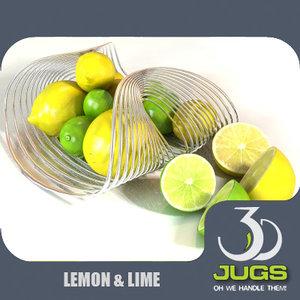 lemons lime 3d model