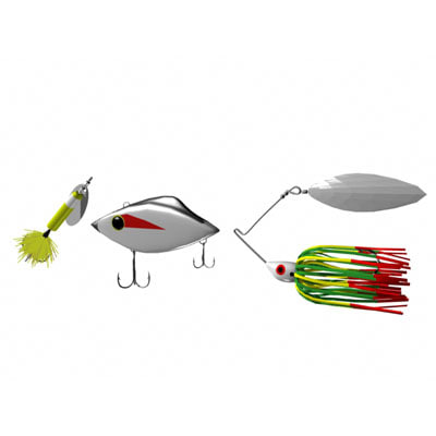 fishing rattletrap spinner 3d model