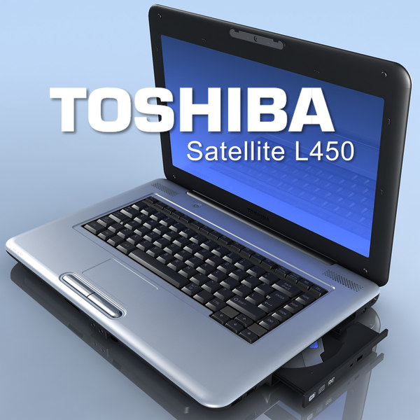3d model of notebook toshiba satellite l450