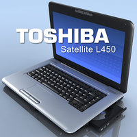 3d model notebook toshiba satellite l450