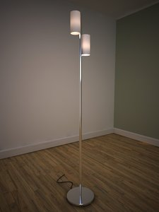 3d model contemporary floor lamp