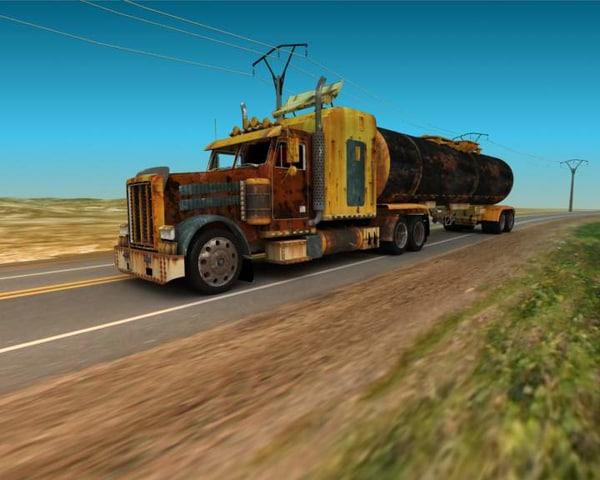 truck monster old 3d model
