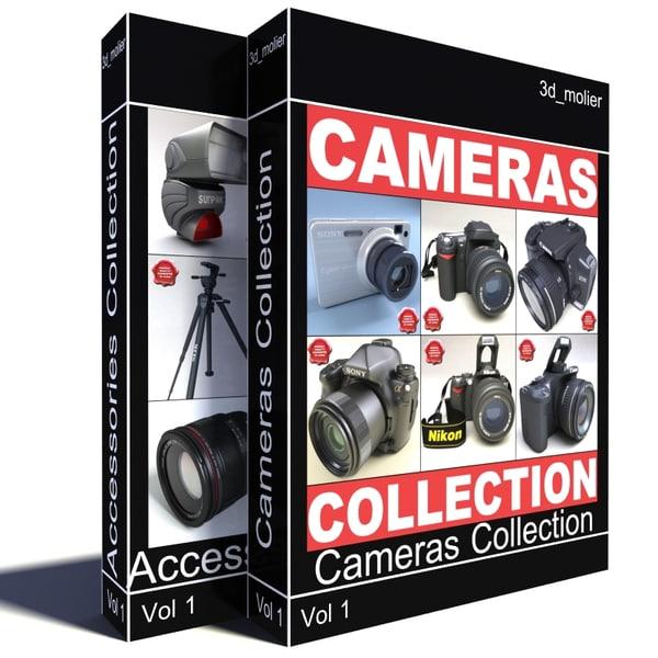 photo big camera tripod 3d model