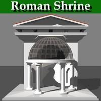 3d roman shrine