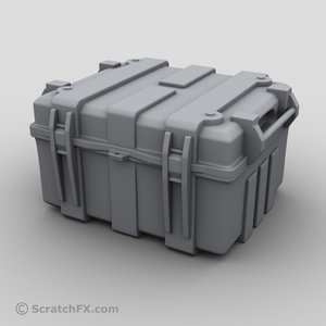 3d medium military case model