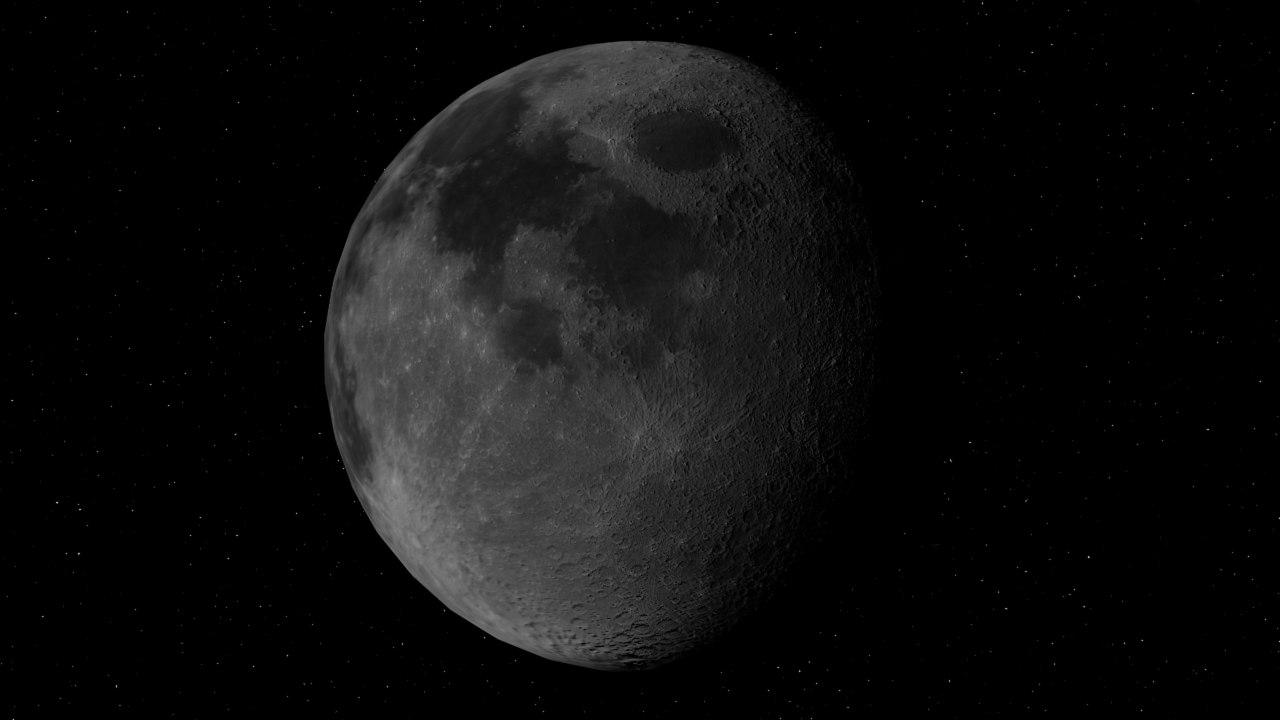 earth moon 3d max
