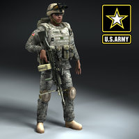 army rigged 3d model