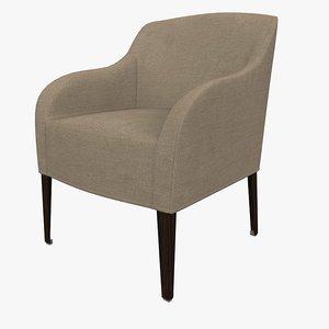 3d armchair agathos apta maxalto