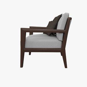 armchair camilla poliform 3d model