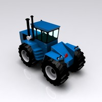 blue harvesting 3d model