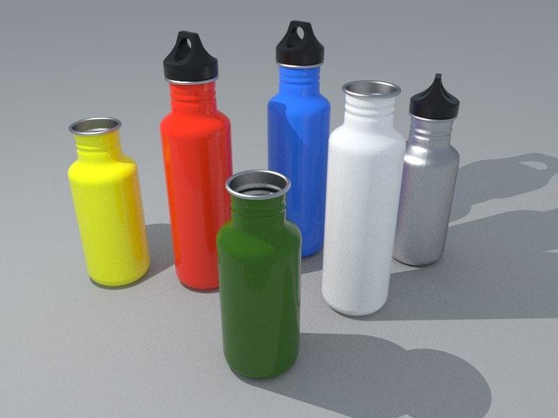 3d model water bottles 2