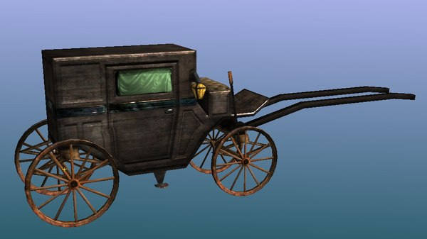 19th century coach 3d model
