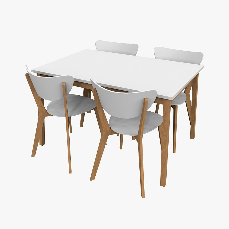 chair table 60ties 3d model