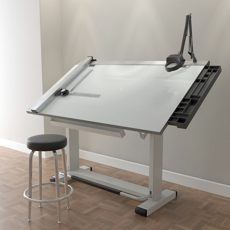 pro drafting table set 3d model