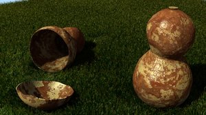 3ds max chinese gourd