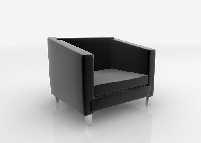 couch inspired le corbussier 3d model