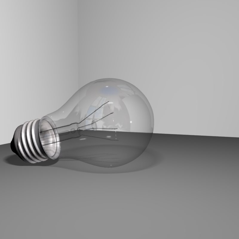 family light bulbs 3d model