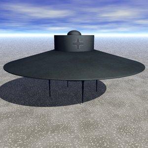 nazi ufo 2 3d max
