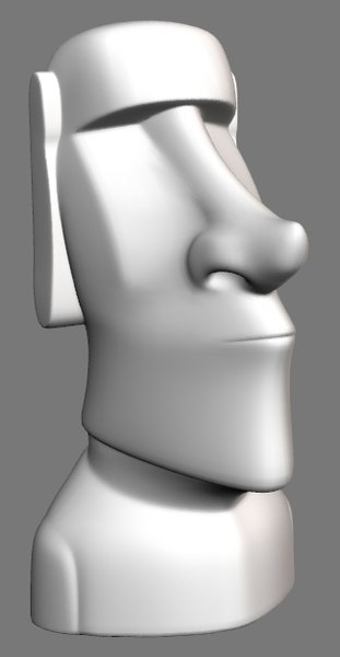 3d moai statue model