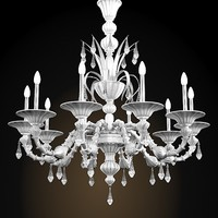 murano glass de majo 6099/k10   crystal classic chandelier barovier toso
