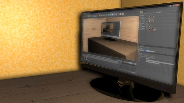 lcd monitor c4d free