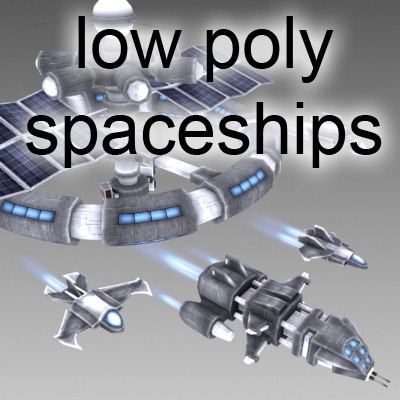3d model space station spaceship