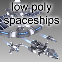 Low Poly Spaceship Collection