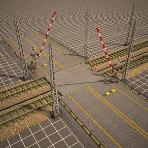 railroad crossing 3d 3ds