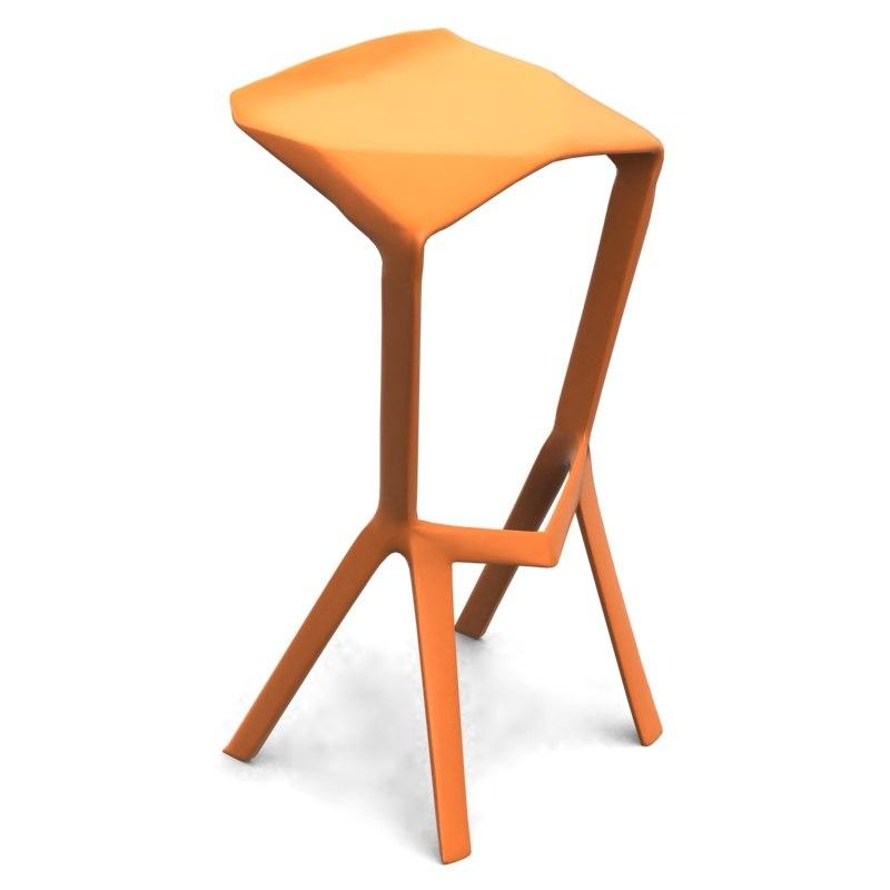 stool konstantin grcic 3d model. Black Bedroom Furniture Sets. Home Design Ideas