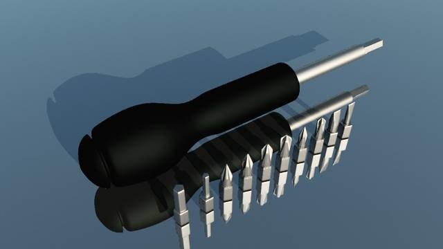 3d model of screwdriver tool
