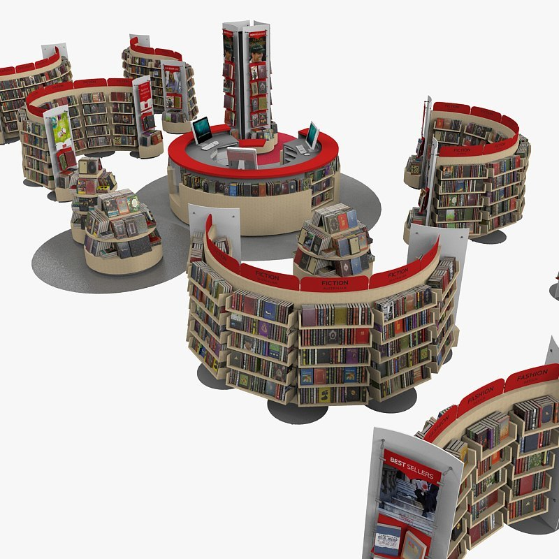 bookstore books 3d model